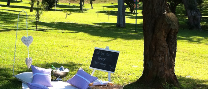 Picnic spot at Jamieson Park