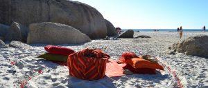 Picnic spot at Llandudno Beach