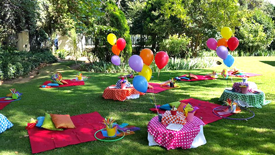 Kids Parties Food Gold Picnic